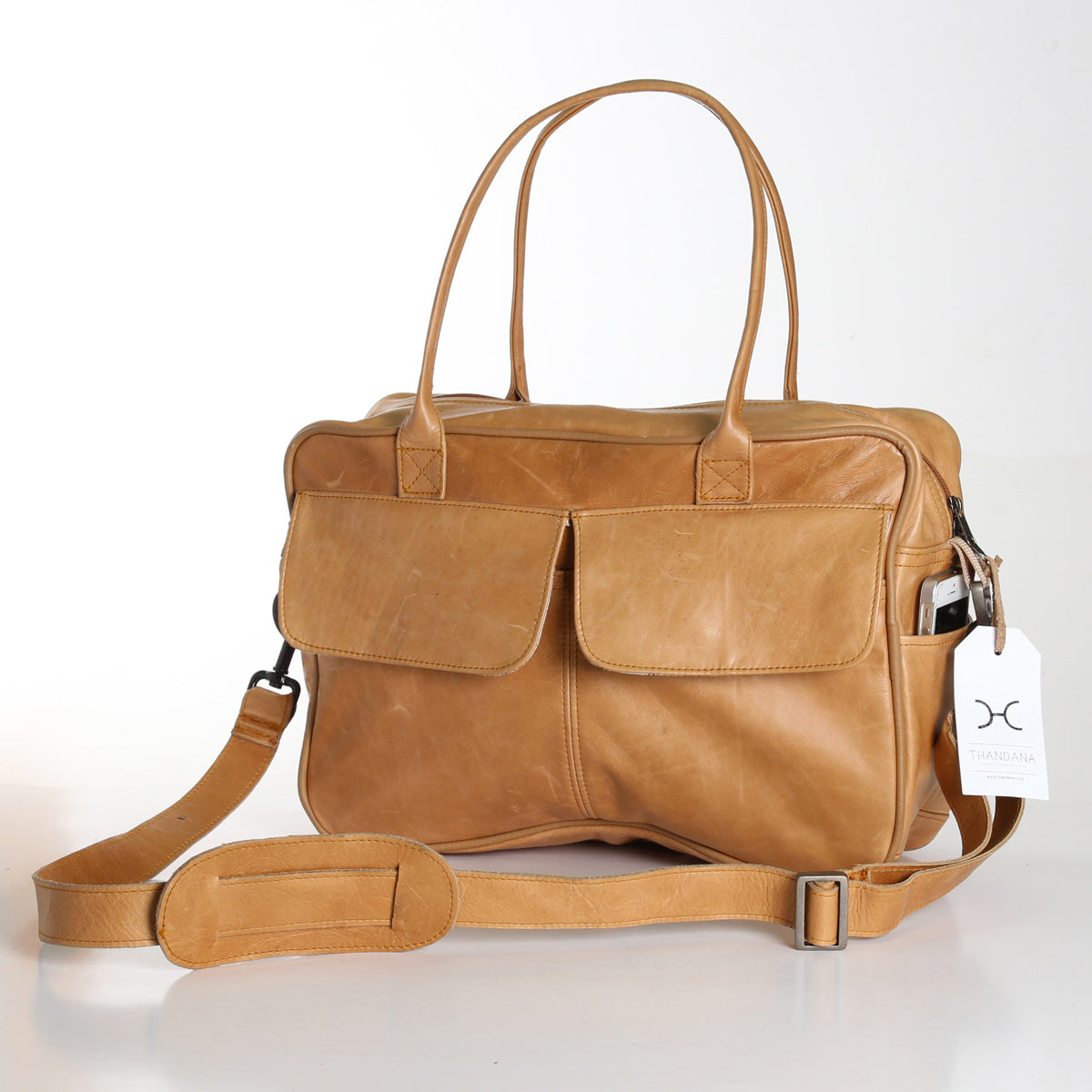 Thandana Briefcase - Hazelnut - Zufrique Boutique