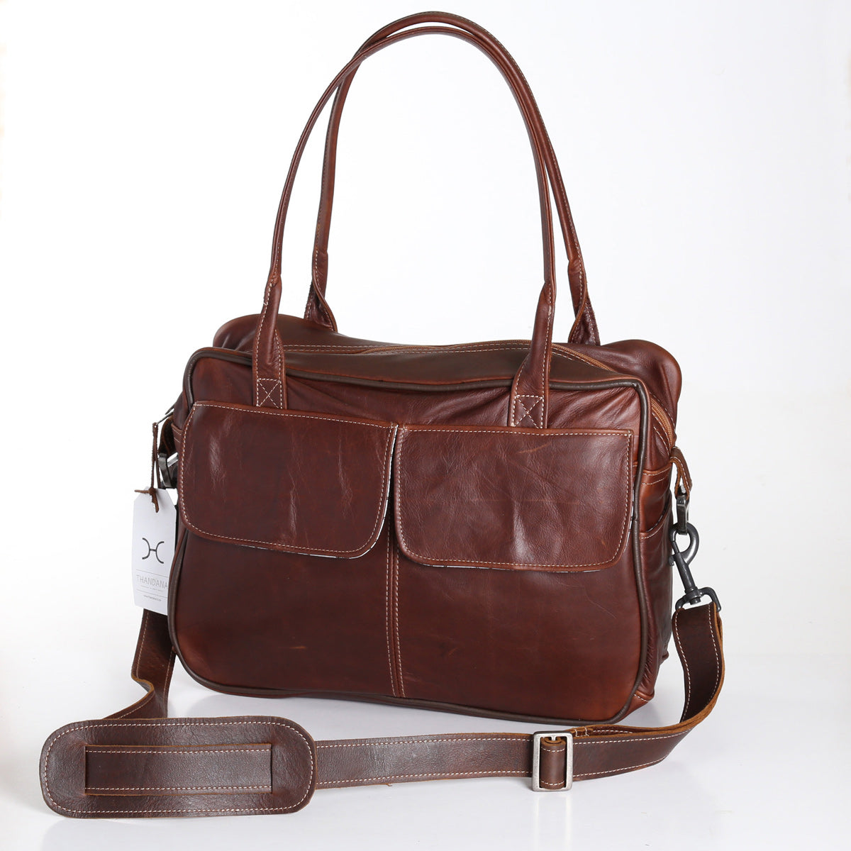 Thandana Briefcase - Brown - Zufrique Boutique