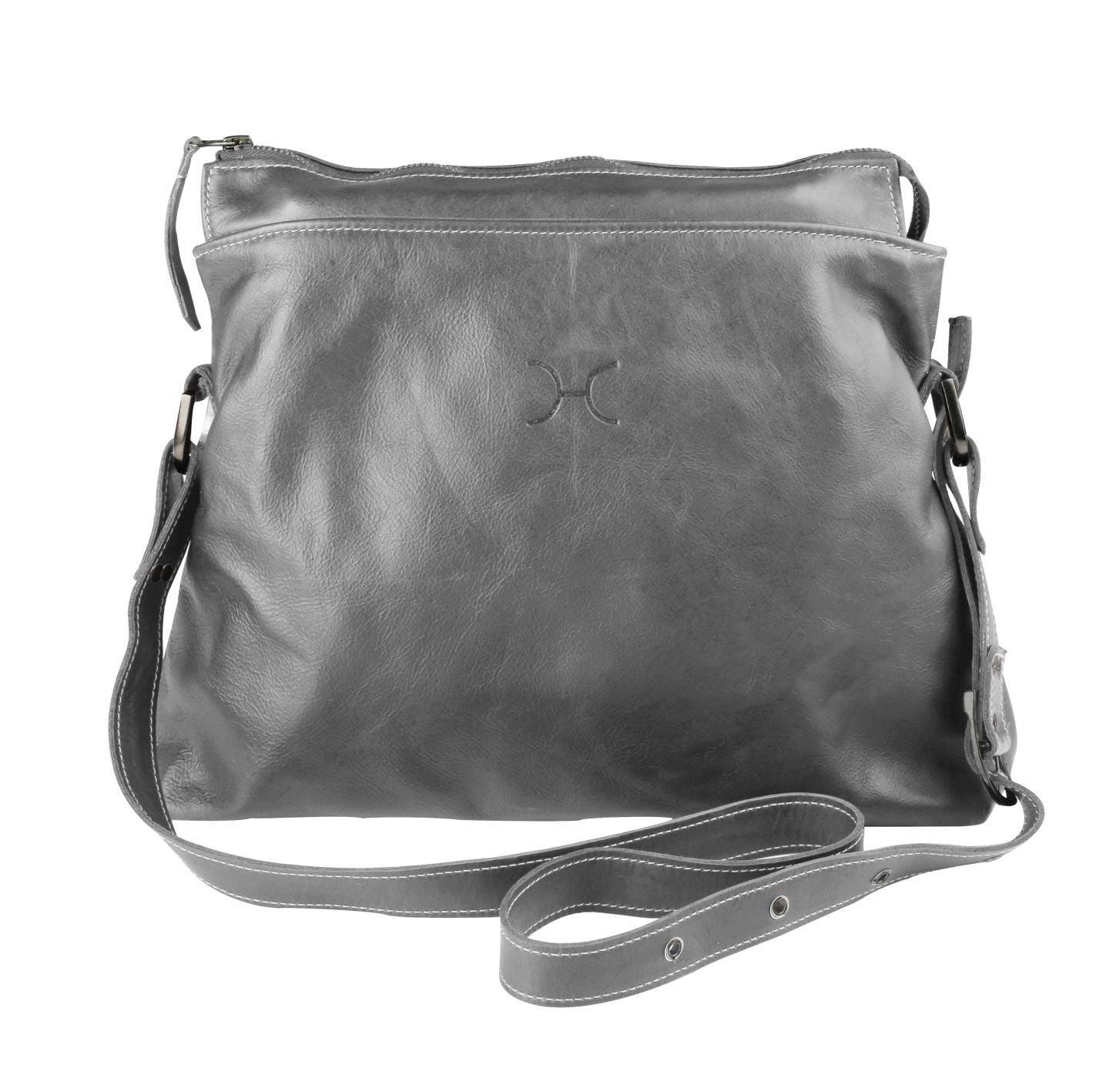 Thandana Messenger Boho Sling Bag - Grey - Zufrique Boutique