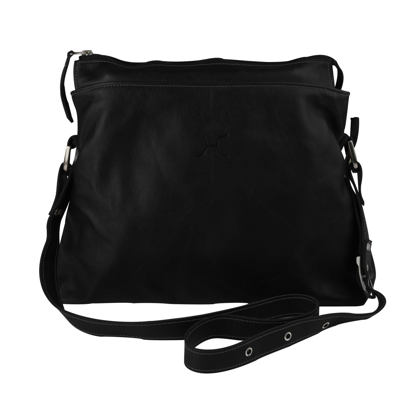 Thandana Messenger Boho Sling Bag - Black - Zufrique Boutique