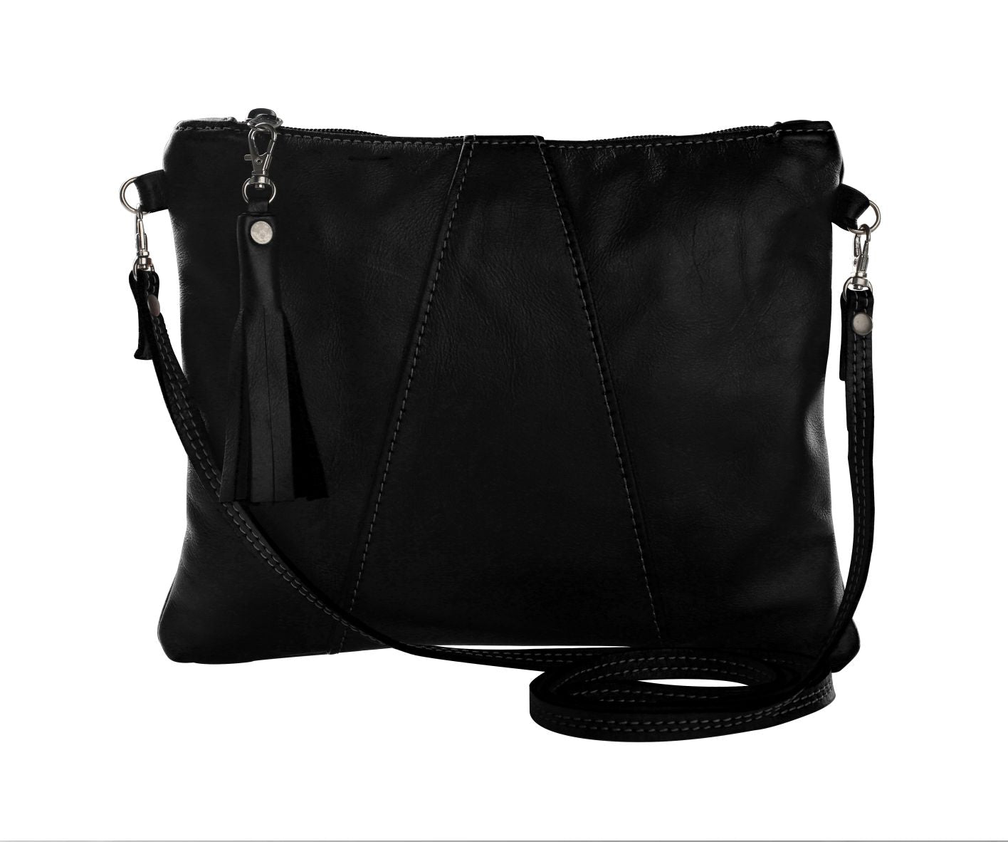 Thandana Cross Over Sling Bag - Black - Zufrique Boutique