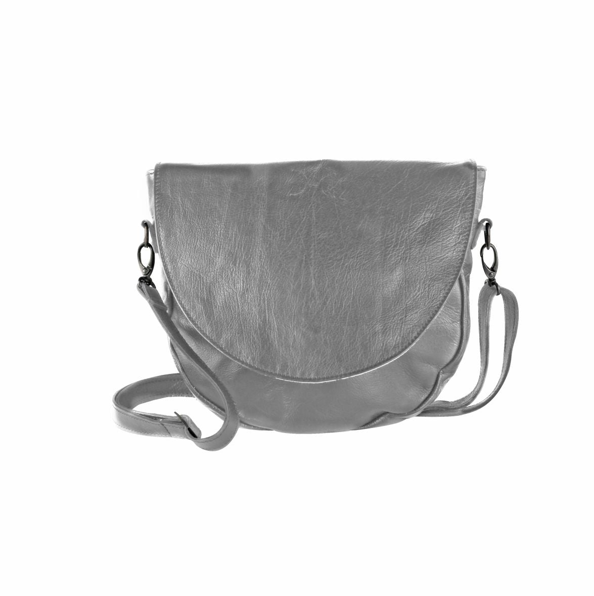 Thandana Messenger Saddle Sling Bag - Grey - Zufrique Boutique