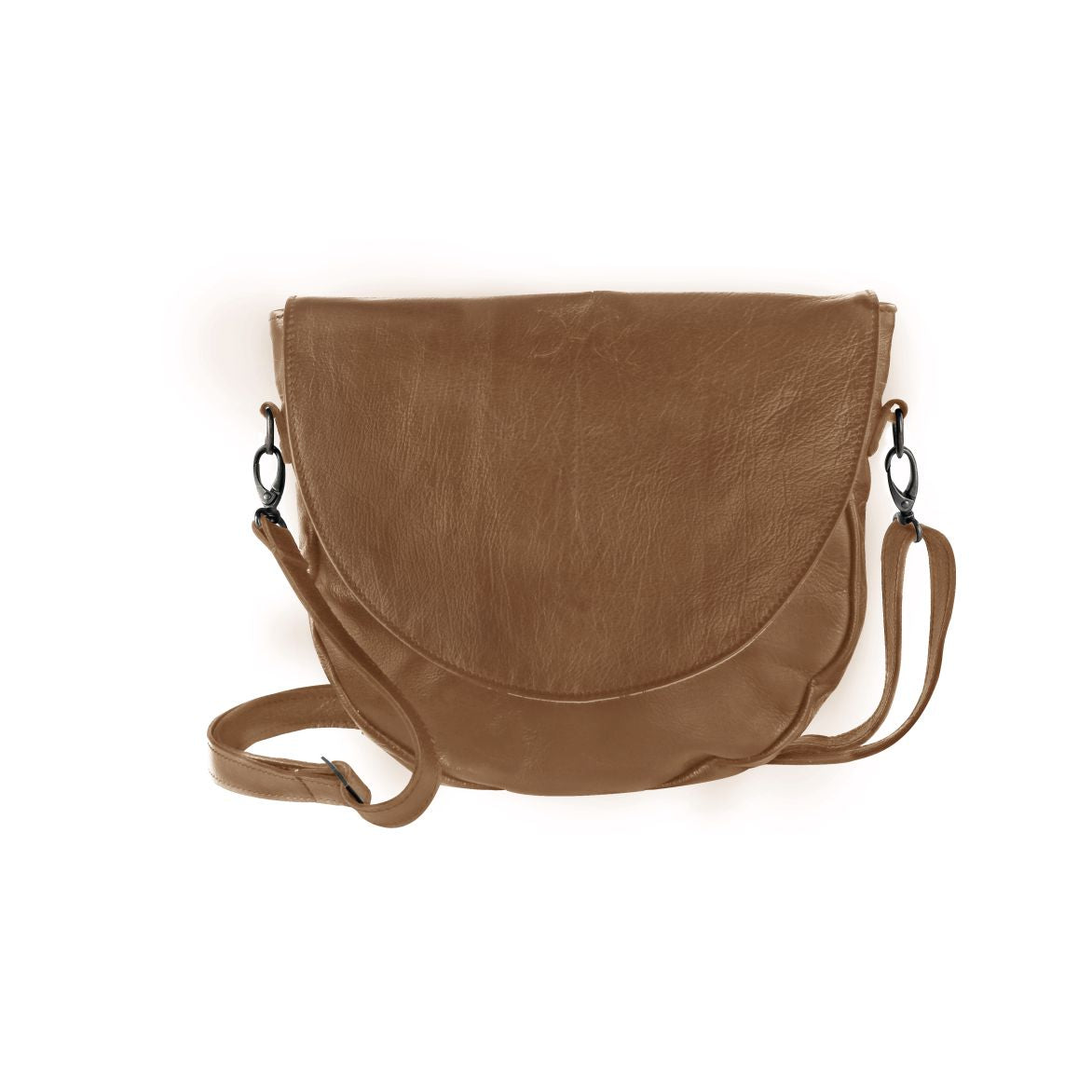 Thandana Messenger Saddle Sling Bag - Hazelnut - Zufrique Boutique