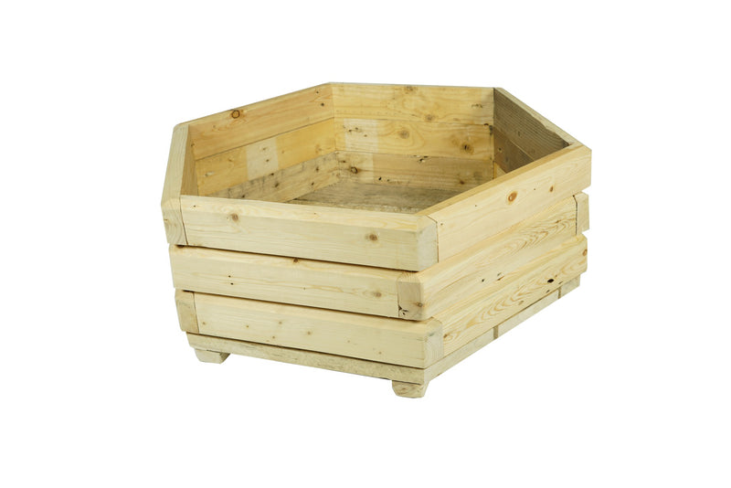 Wood-Recyability-Wood-Shop-Pitmedden-Aberdeenshire-Scotland-Hand-Crafted- Recycled- Upcycled-Wood-Products-hexagonal planter