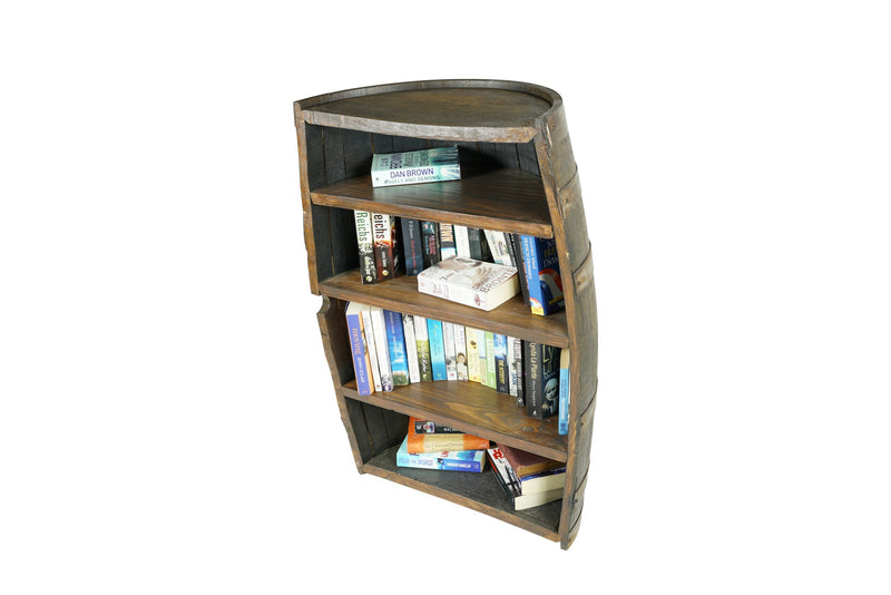 Barrel Console Bookcase