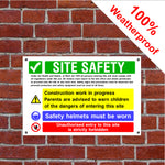 Multi message site safety sign English