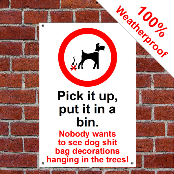 Pick it up, put it in the bin. Nobody wants to see dog shit bag decorations hanging in the trees