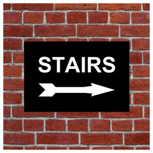 Stairs with right arrow sign or sticker