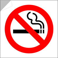 No smoking stickers pack of 6 or 12 approx 3inch 100% weatherproof sign products for all climates!