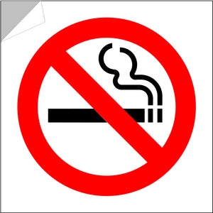 No smoking stickers pack of 6/12 approx 3inch weatherproof self-adhesive vinyl
