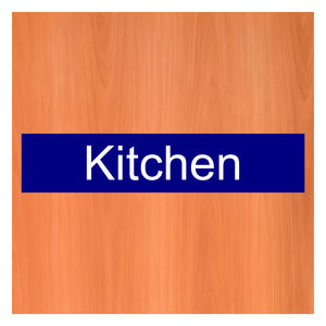 Kitchen door sign or sticker