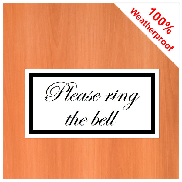 Please ring the bell sticker