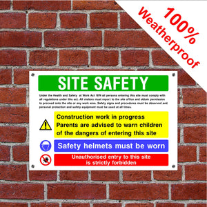 Multi message site safety Health and safety signs in various sizes & materials
