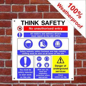 Personal protective equipment PPE Health and safety signs