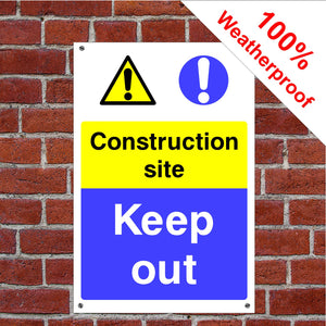 Construction site keep out Health and safety signs CONS026 in various sizes & materials