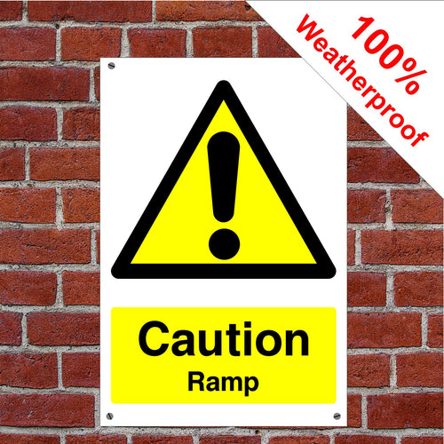 Caution Ramp Health and safety signs CONS037 in various sizes & materials
