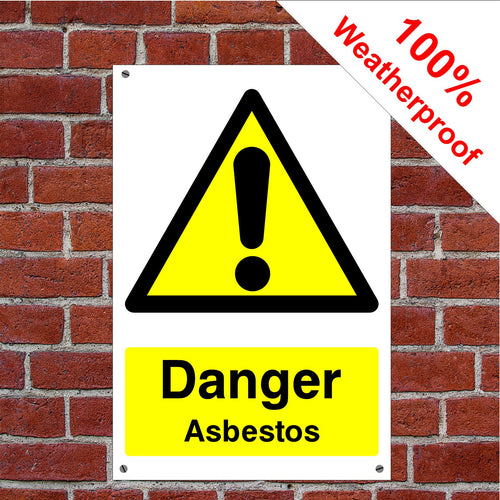 Danger asbestos Health and safety signs CONS040 in various sizes & materials