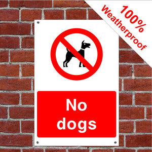 No dogs Health and safety signs COUN0082