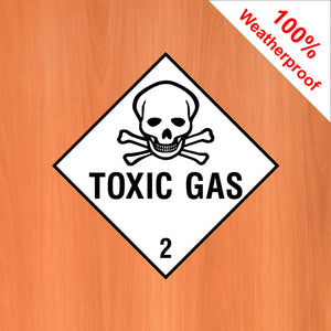 Toxic Gas 2 self adhesive vinyl sticker DANG10 in various materials and sizes