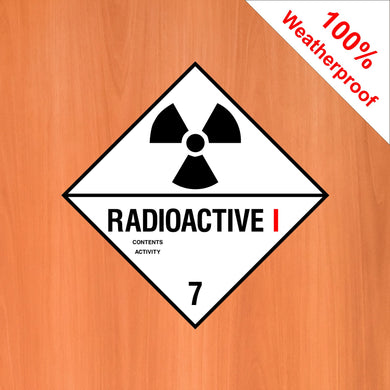 Radio Active I 7 self adhesive vinyl sticker DANG13 in various materials and sizes