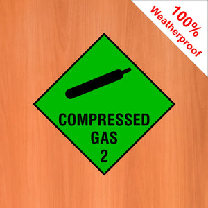 Compressed Gas 2 self adhesive vinyl sticker DANG23