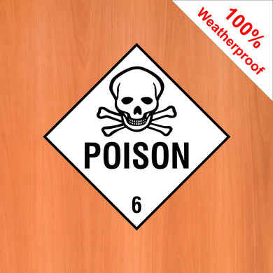 Poison 6 self adhesive vinyl sticker DANG7