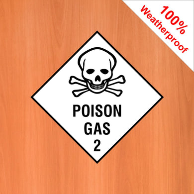 Poison Gas 2 self adhesive vinyl sticker DANG8