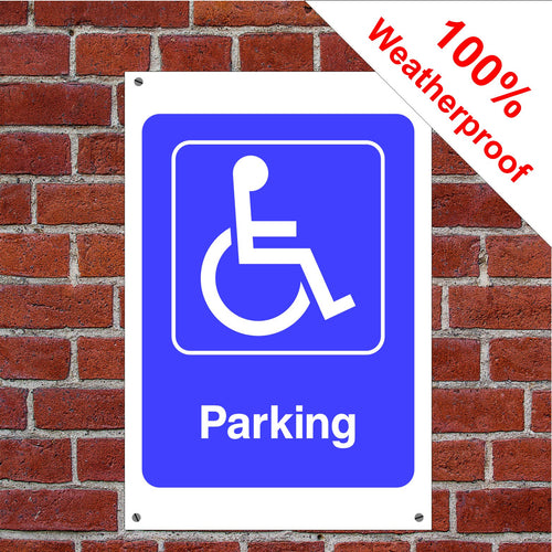 Disabled parking Health and safety signs