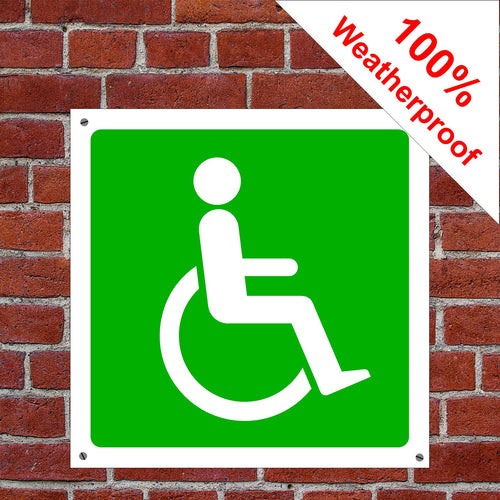 Wheelchair access Health and safety signs