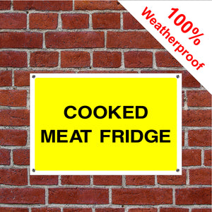 Cooked meat fridge sign food/hygiene/safety FOO65