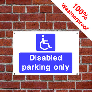 Disabled parking only hotel safety sign or sticker