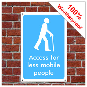 Access for less mobile people symbol information sign or sticker