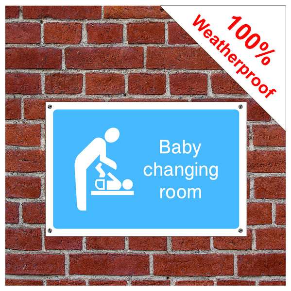 Baby changing room symbol information sign or sticker