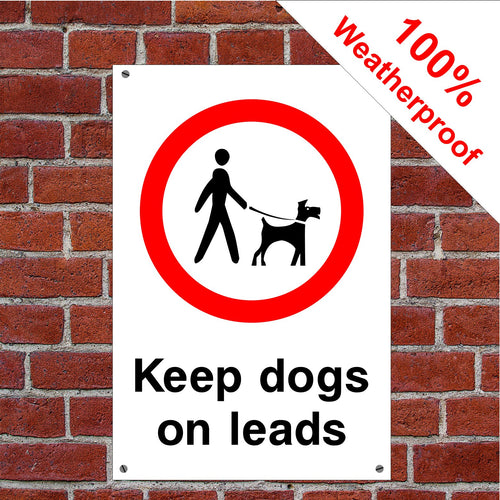 Keep dogs on lead sign or sticker PAR24 Parks & Play Areas