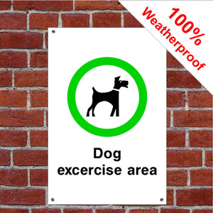 Dog exercise area sign or sticker Parks & Play Areas
