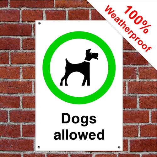 Dogs allowed sign or sticker Parks & Play Areas