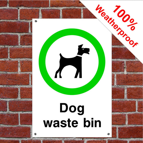 Dog waste bin Dog poo sign or sticker Parks & Play Areas