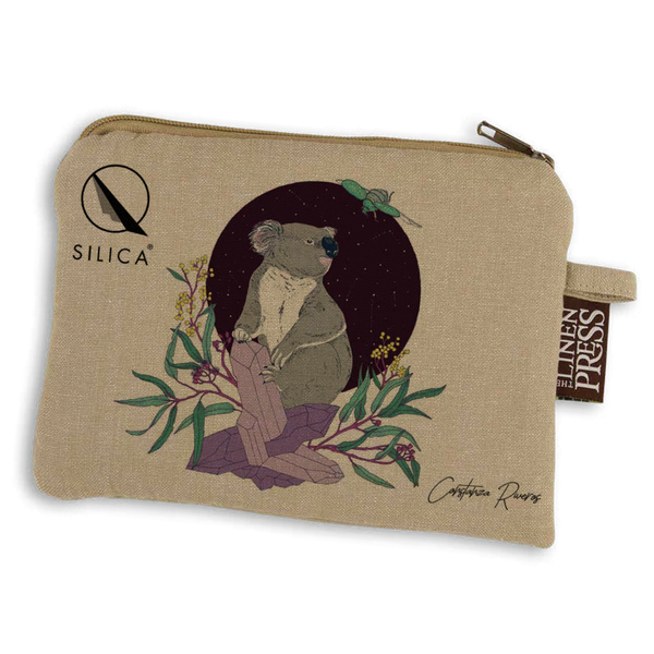 QSILICA ORGANIC COTTON COSMETIC BAG