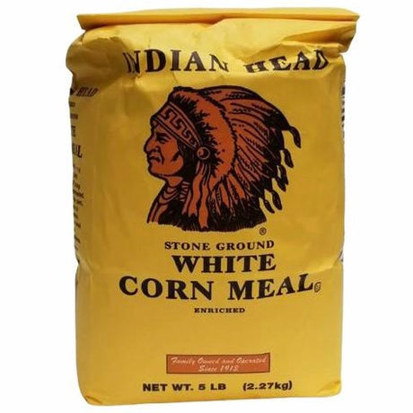 Indian Head White Corn Meal, 5lbs