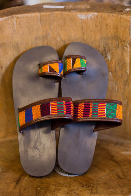 Kente slippers (male)
