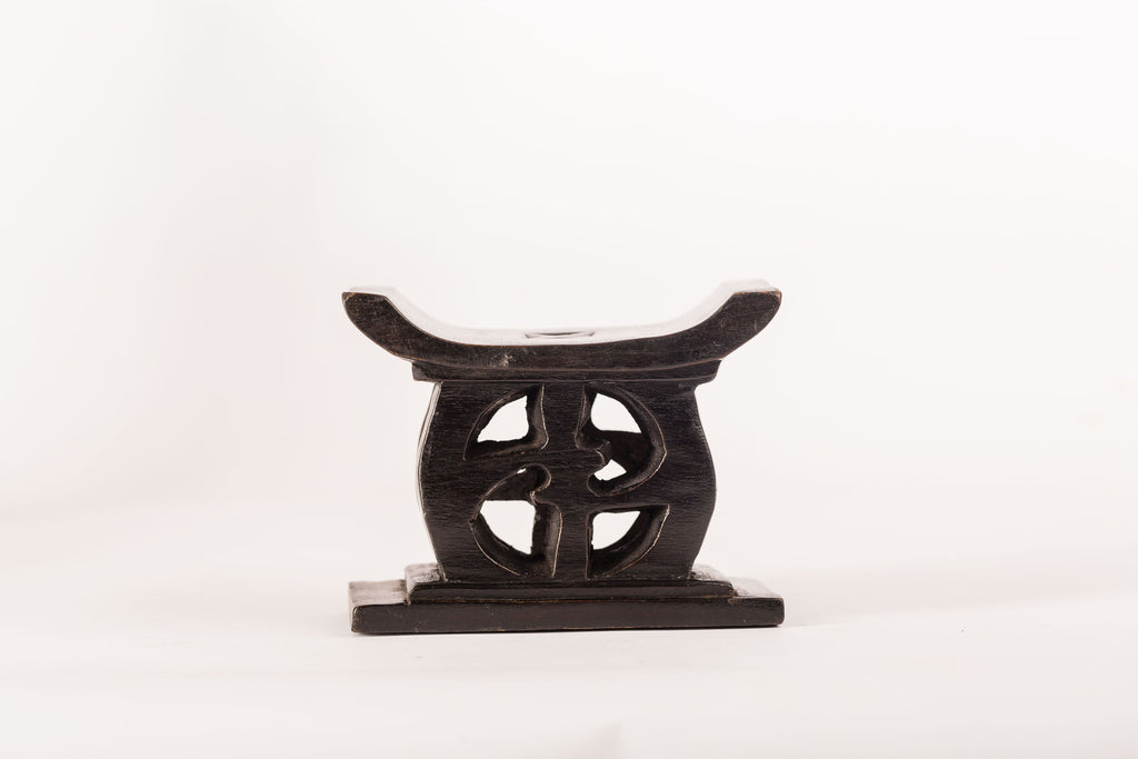 African stool sculpture