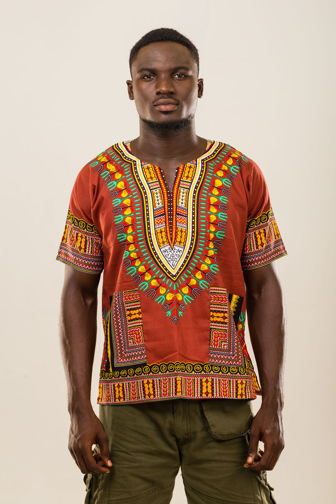 Brown dashiki (unisex)