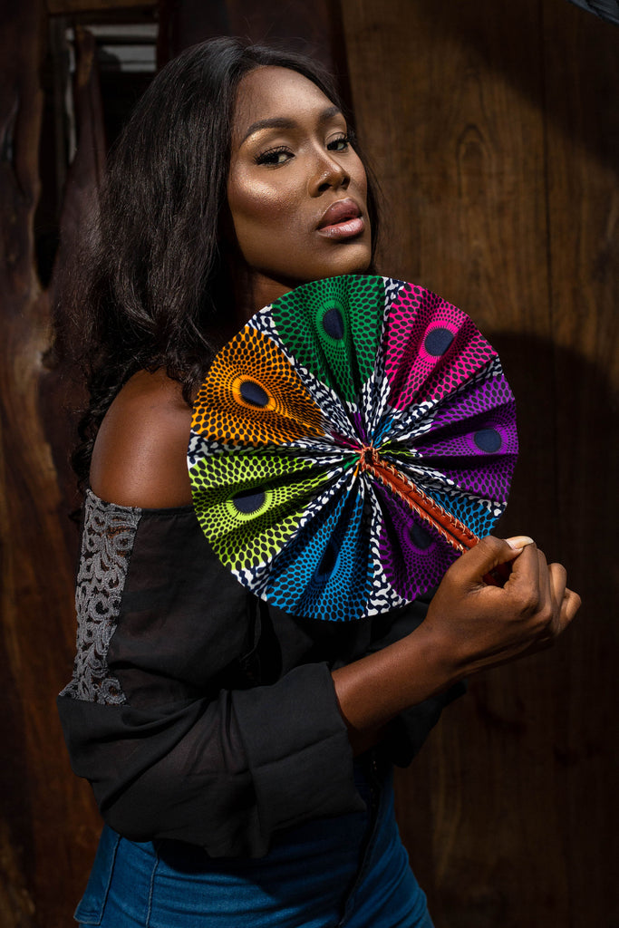 African cloth fan