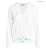 Seashore Women's White Hoodie with Pockets - TASC