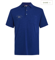Nantucket Men's Fitted Pock Polo Royal Blue - TASC