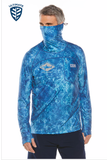 Men's Andros Fishing Hoodie Tee UPF 50+ - COOLIBAR