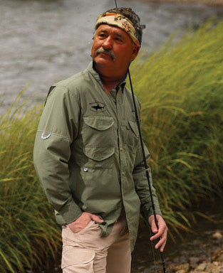Blend Embroidered Fishing Catching Shirt - Moss -  Even makes Pete look Good!