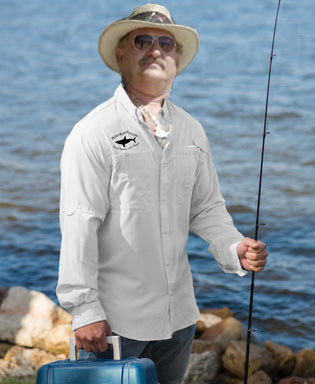 Embroidered Boating/Fishing Shirt - Classy White - Pete's Dress Shirt!