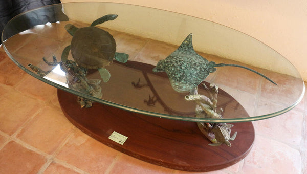Sea Turtle and Manta Ray Table (Large Item)