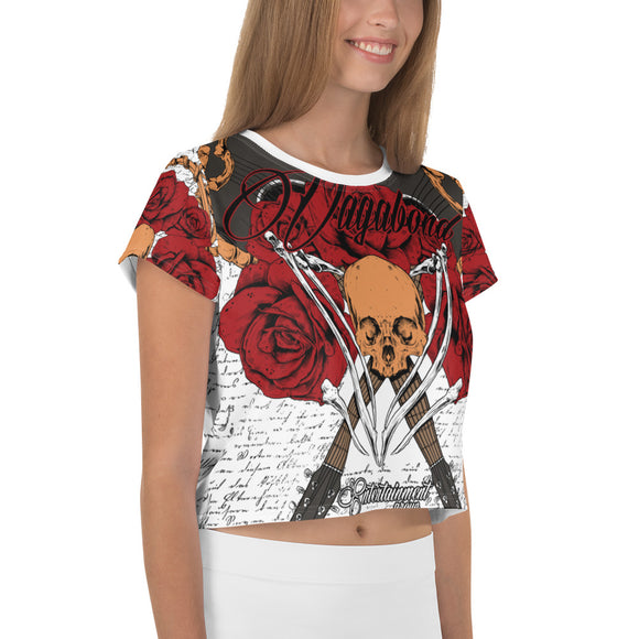 All-Over Print Crop Tee Music or Die